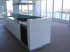 White Marble Kitchen Island8